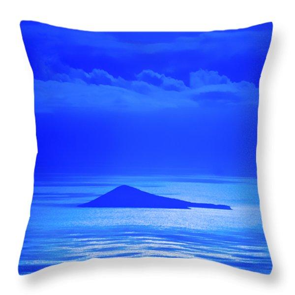 Island Of Yesterday Throw Pillow by Christi Kraft