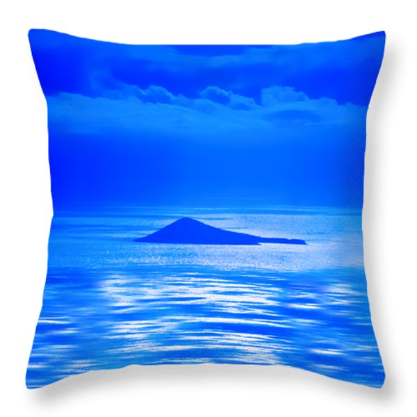 Island of Yesterday wide crop Throw Pillow by Christi Kraft