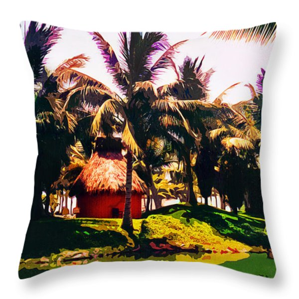 Island Paradise Throw Pillow by CHAZ Daugherty
