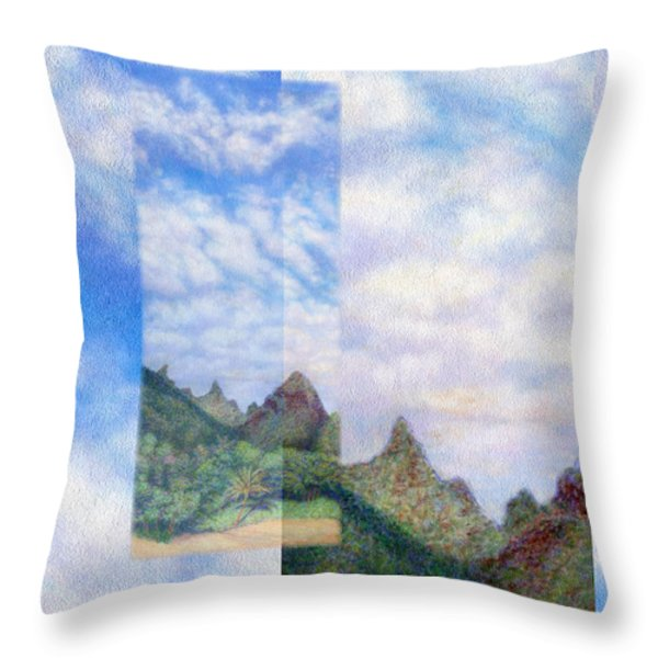 Island Sky Details Throw Pillow by Kenneth Grzesik