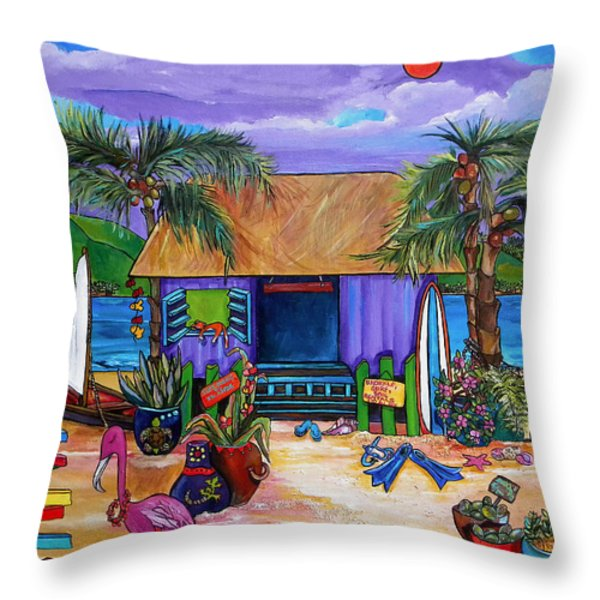 Island Time Throw Pillow by Patti Schermerhorn