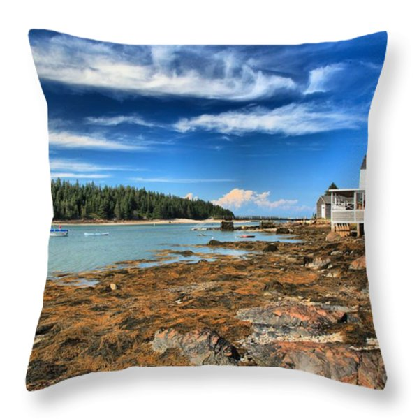 Isle Au Haut House Throw Pillow by Adam Jewell