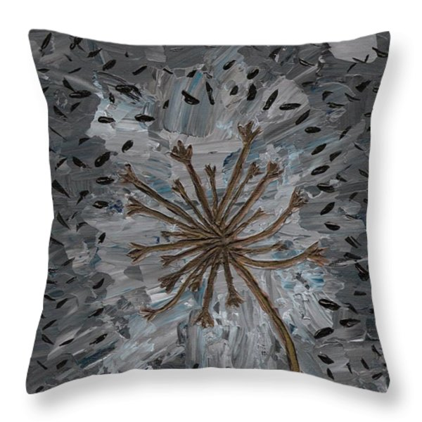 Isolation Vacuus Vos Throw Pillow by Vicki Maheu