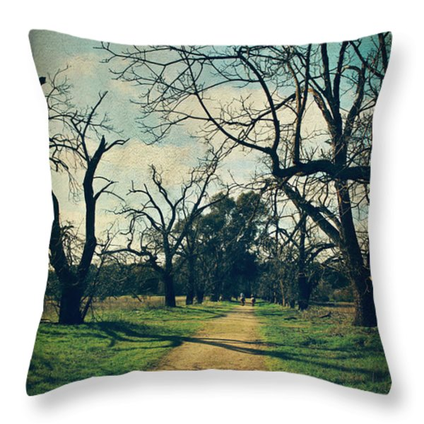 It All Depends Throw Pillow by Laurie Search