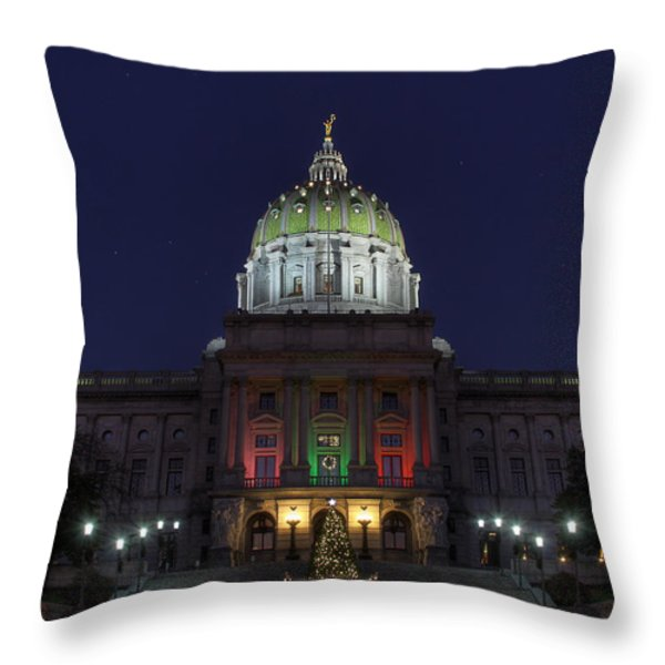 It Came Upon A Midnight Clear Throw Pillow by Lori Deiter