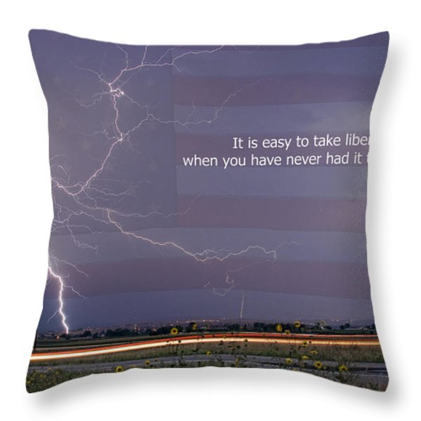 It Is Easy To Take Liberty For Granted Throw Pillow by James BO  Insogna