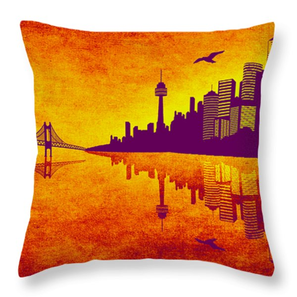 It Was Us That Scorched The Sky Throw Pillow by Angelina Vick