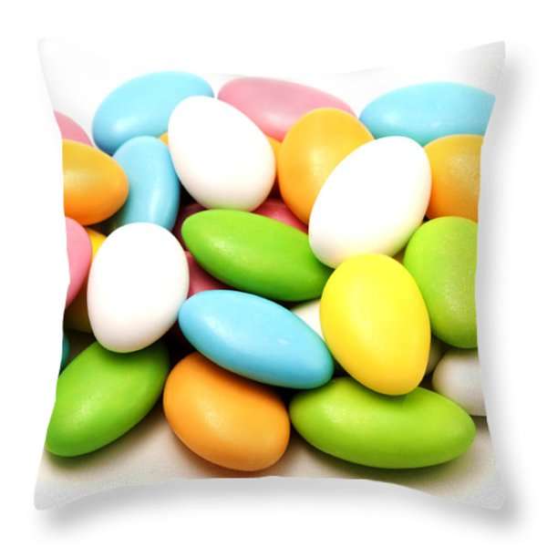 Italian confetti Throw Pillow by Fabrizio Troiani