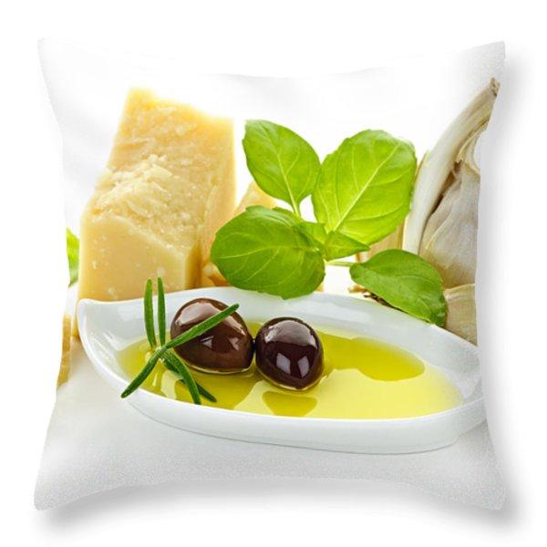 Italian Flavors Throw Pillow by Elena Elisseeva