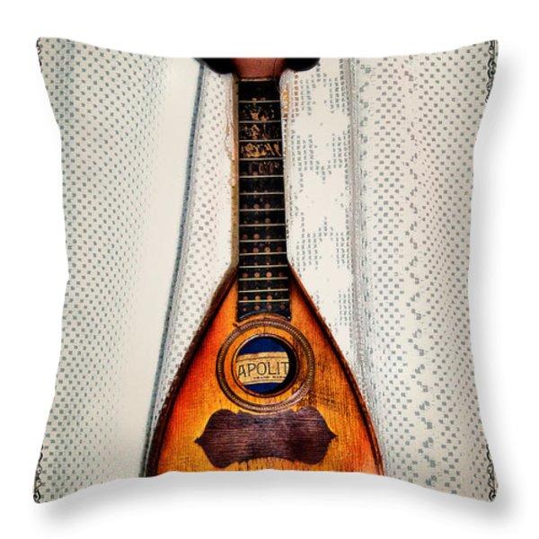 Italian Mandolin Throw Pillow by Bill Cannon