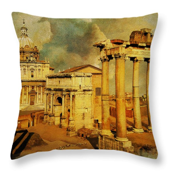 Italy 05 Throw Pillow by Catf