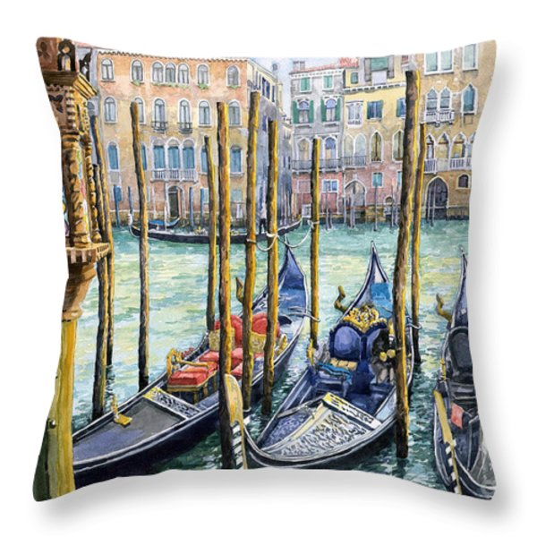 Italy Venice Lamp Throw Pillow by Yuriy Shevchuk