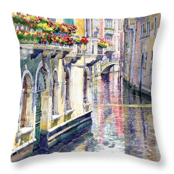 Italy Venice Midday Throw Pillow by Yuriy Shevchuk