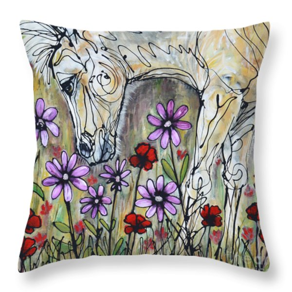 It's A Girl Throw Pillow by Jonelle T McCoy