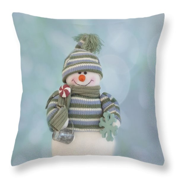 It's A Holly Jolly Christmas Throw Pillow by Kim Hojnacki