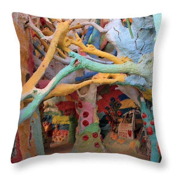 It's a Magical World Throw Pillow by Laurie Search