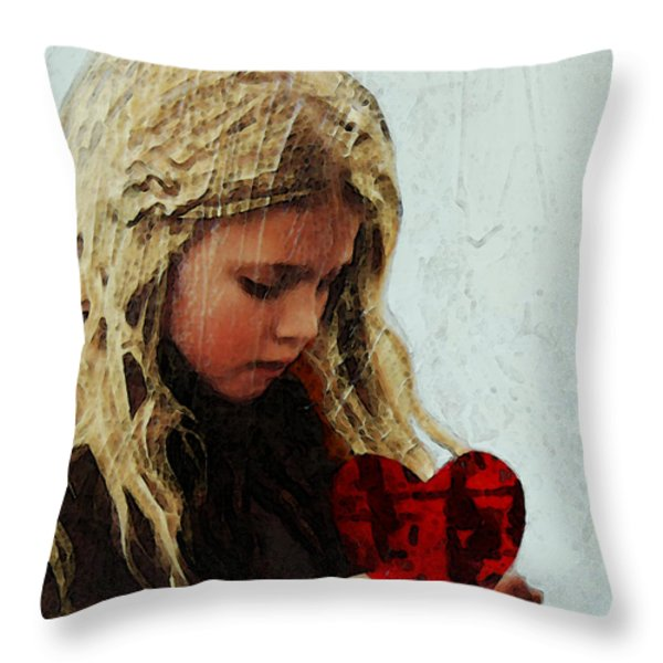 It's All I Have - Mixed Media Art By Sharon Cummings Throw Pillow by Sharon Cummings