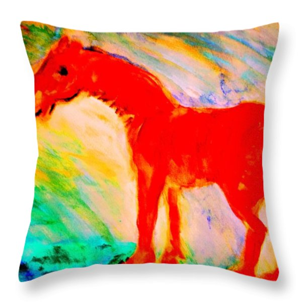 its an adventure Throw Pillow by Hilde Widerberg