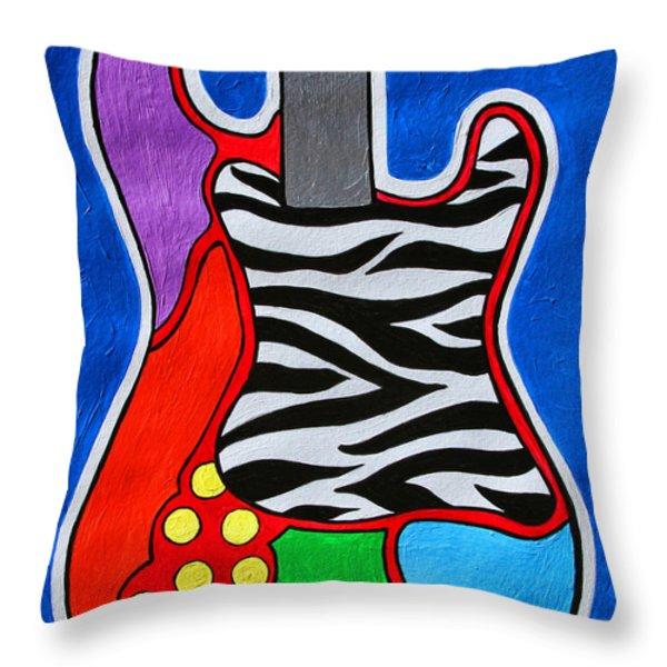 It's Electric Acrylic By Diana Sainz Throw Pillow by Diana Sainz