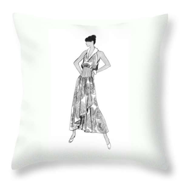It's Sarong It's Right Throw Pillow by Sarah Parks