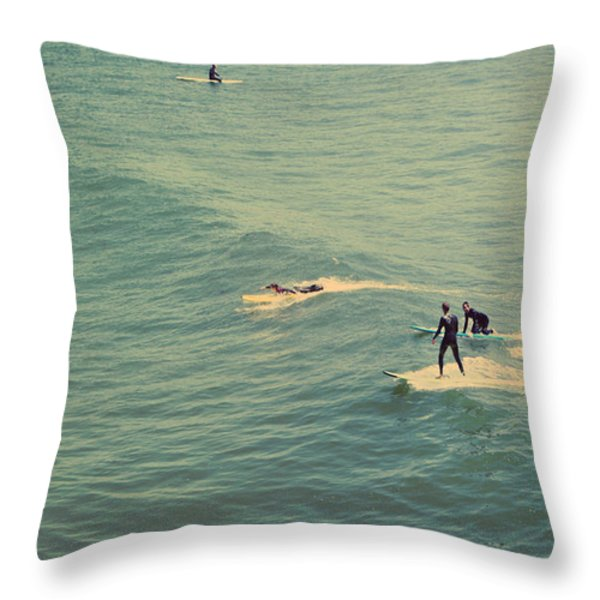 It's the Ride Throw Pillow by Laurie Search