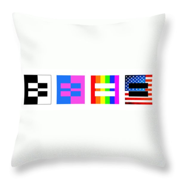 It's Time - Equal Rights For All By Sharon Cummings Throw Pillow by Sharon Cummings