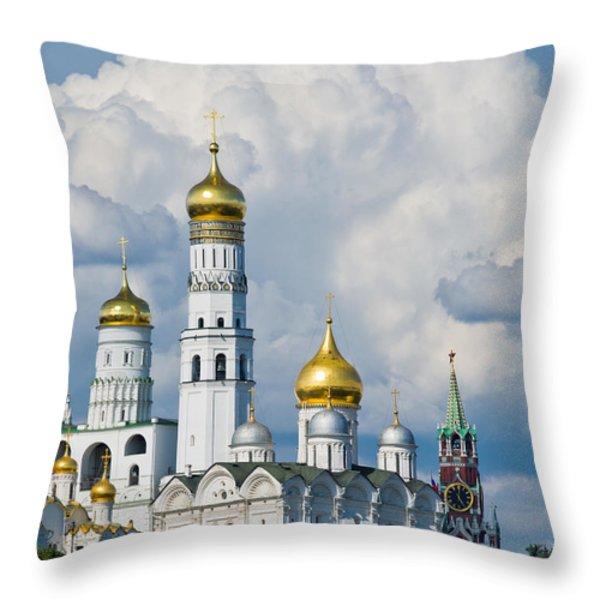Ivan The Great Bell Tower Of Moscow Kremlin - Featured 3 Throw Pillow by Alexander Senin