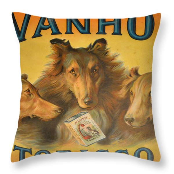 Ivanhoe Tobacco - The American Dream Throw Pillow by Christine Till