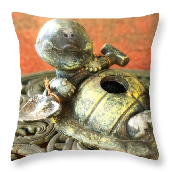 I've Fallen And I Can't Get Up Throw Pillow by Joan Bertucci