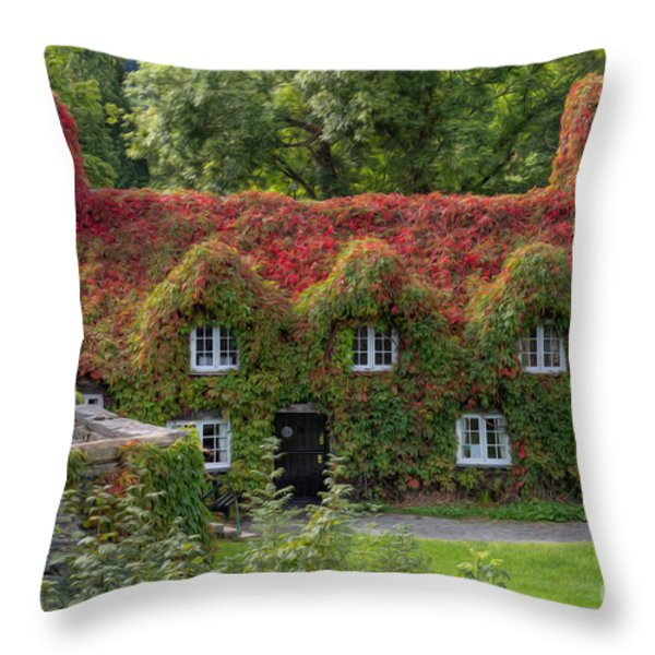 Ivy Cottage Throw Pillow by Adrian Evans