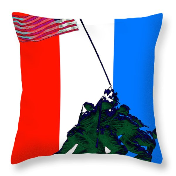 Iwo Jima 20130210 Red White Blue Throw Pillow by Wingsdomain Art and Photography
