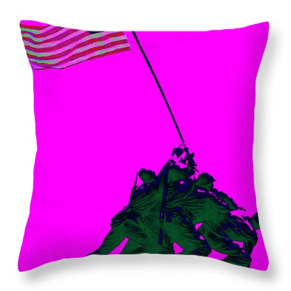 Iwo Jima 20130210 Throw Pillow by Wingsdomain Art and Photography