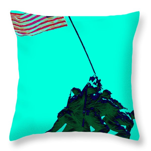 Iwo Jima 20130210m128 Throw Pillow by Wingsdomain Art and Photography