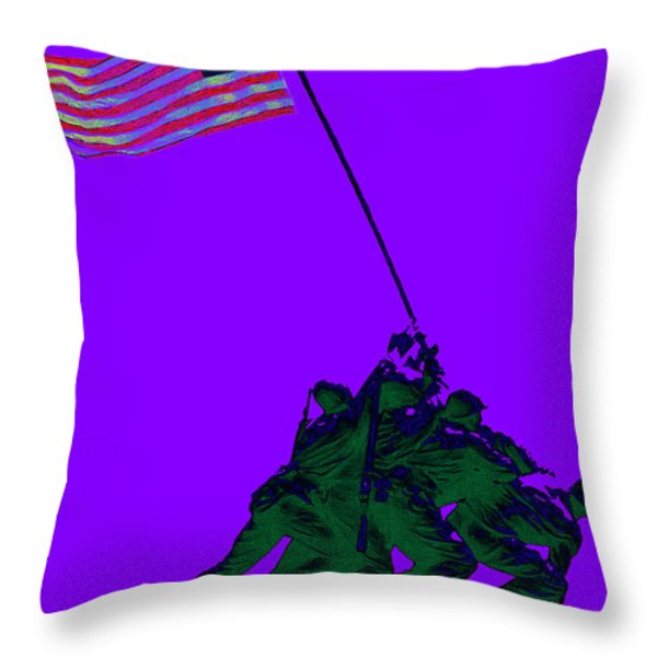 Iwo Jima 20130210m28 Throw Pillow by Wingsdomain Art and Photography