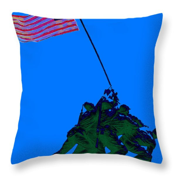 Iwo Jima 20130210m88 Throw Pillow by Wingsdomain Art and Photography