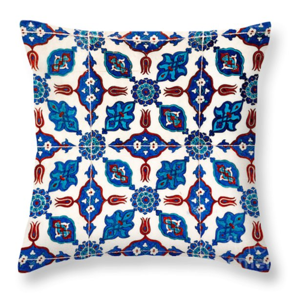 Iznik 14 Throw Pillow by Rick Piper Photography