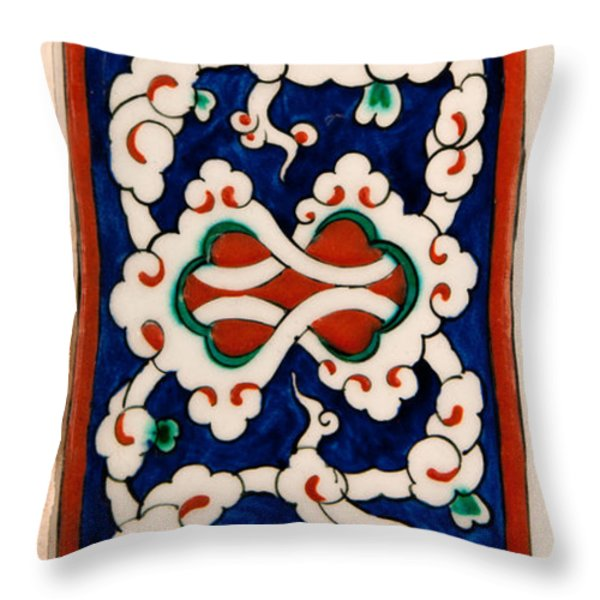 Iznik 18 Throw Pillow by Rick Piper Photography
