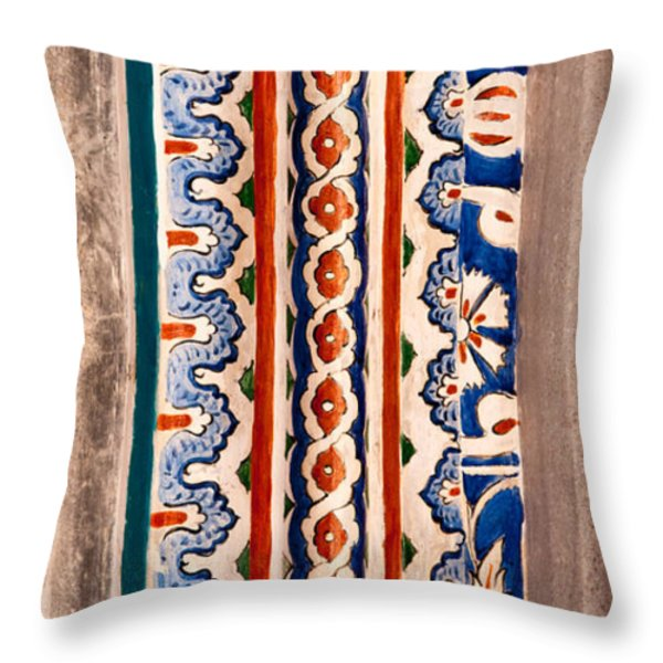 Iznik 19 Throw Pillow by Rick Piper Photography