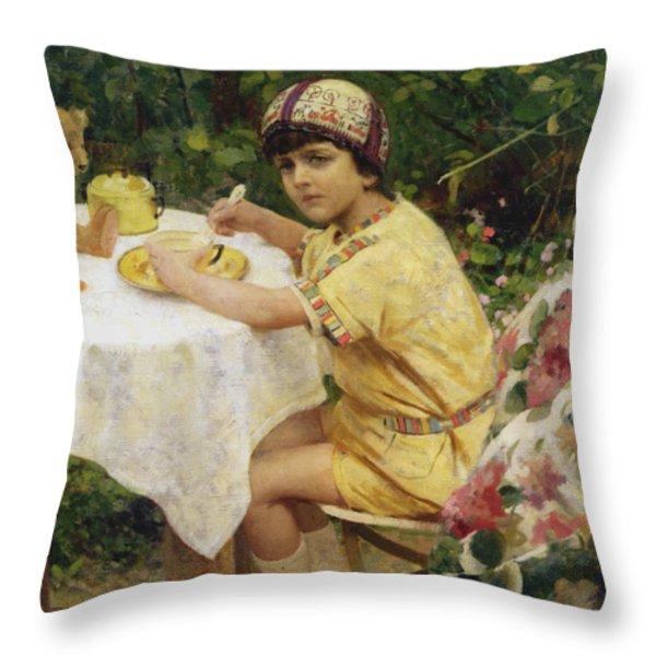 Jack in the Garden Throw Pillow by Giacomo Grosso