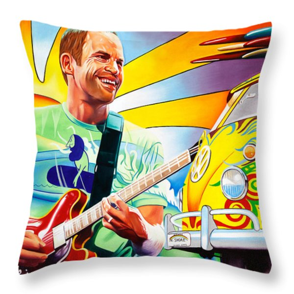 Jack Johnson Throw Pillow by Joshua Morton