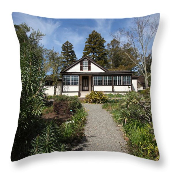 Jack London Cottage 5d22120 Throw Pillow by Wingsdomain Art and Photography