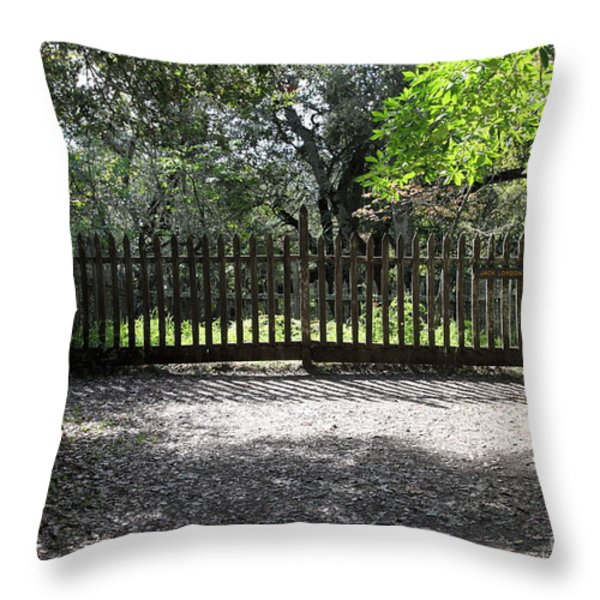 Jack London Grave Site 5d21982 Throw Pillow by Wingsdomain Art and Photography