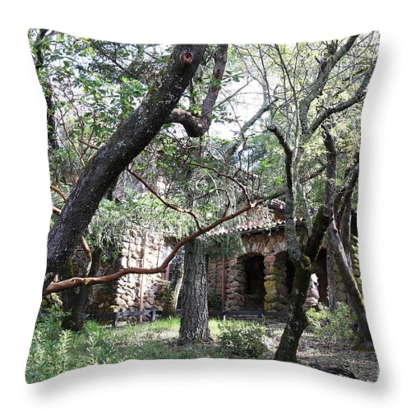 Jack London House of Happy Walls 5D21961 Throw Pillow by Wingsdomain Art and Photography