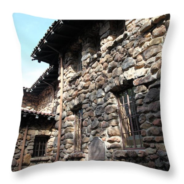 Jack London House of Happy Walls 5D21967 Throw Pillow by Wingsdomain Art and Photography