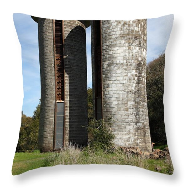 Jack London Ranch Silos 5D22160 Throw Pillow by Wingsdomain Art and Photography