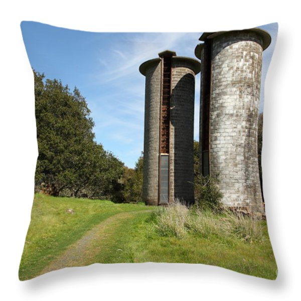 Jack London Ranch Silos 5D22162 Throw Pillow by Wingsdomain Art and Photography