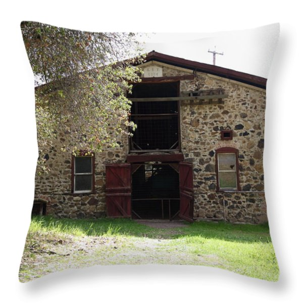 Jack London Sherry Barn 5d22070 Throw Pillow by Wingsdomain Art and Photography