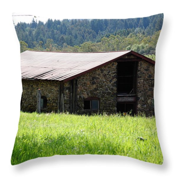 Jack London Stallion Barn 5d22057 Throw Pillow by Wingsdomain Art and Photography