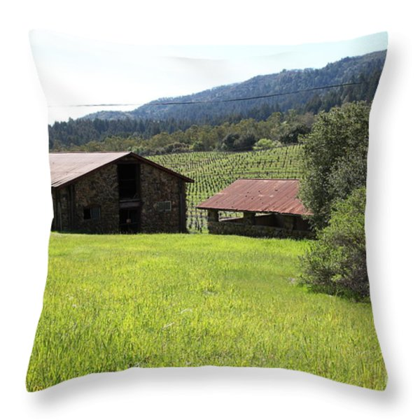 Jack London Stallion Barn 5d22058 Throw Pillow by Wingsdomain Art and Photography