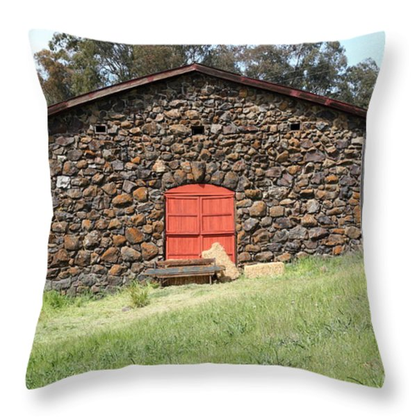 Jack London Stallion Barn 5D22101 Throw Pillow by Wingsdomain Art and Photography